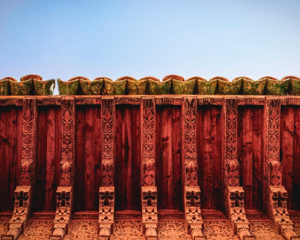 Dach des Palastes des Großwesirs von Marrakesch El Baiha