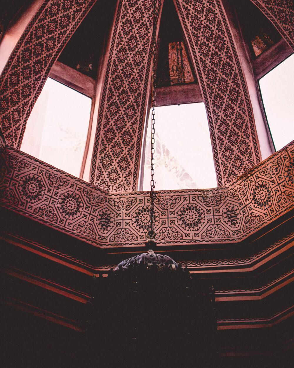 Die Kuppel eines Riads in Marrakesch von Innen