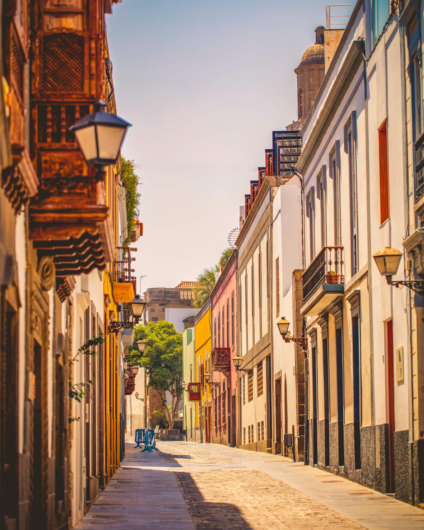 Ruhige Straßenszene in Las Palmas, Gran Canaria