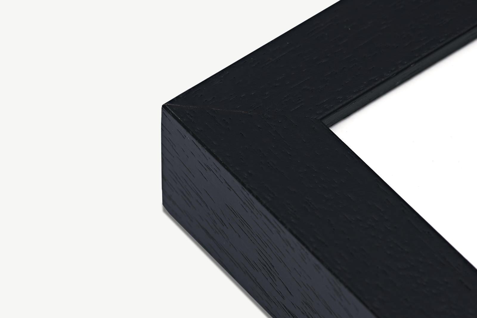 Schwarzer Massivholzrahmen für Fine Art Print