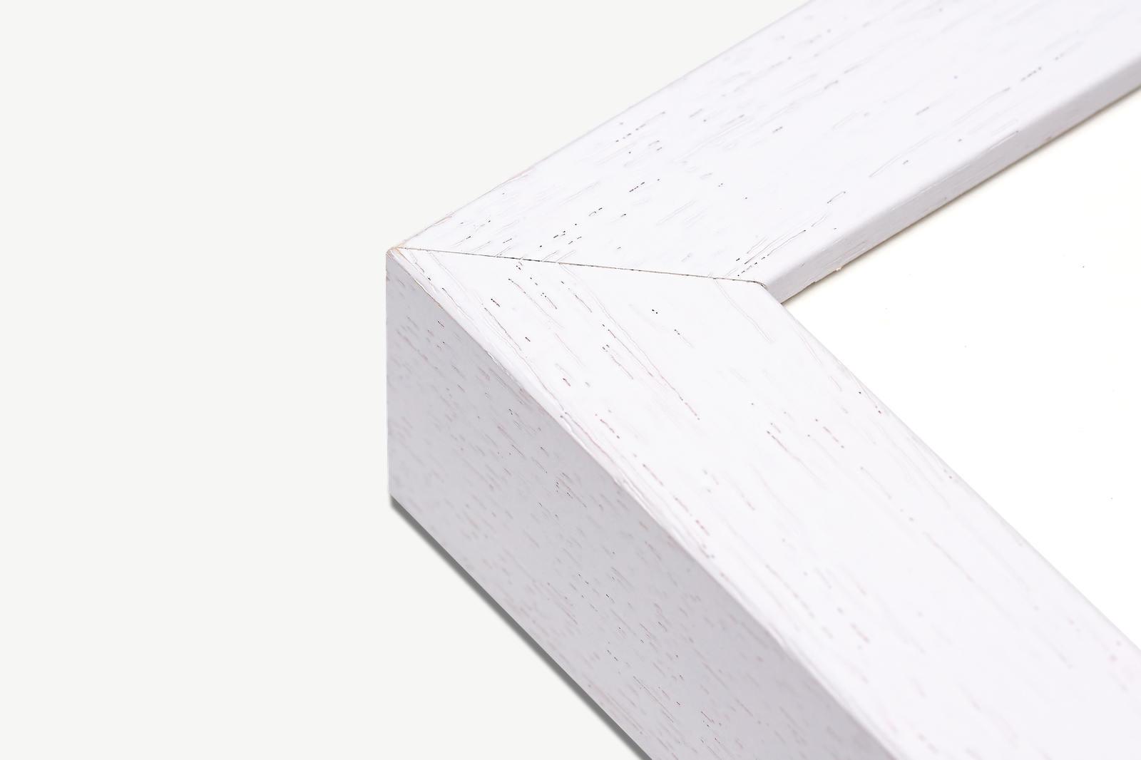 Weisser Massivholzrahmen für Fine Art Print